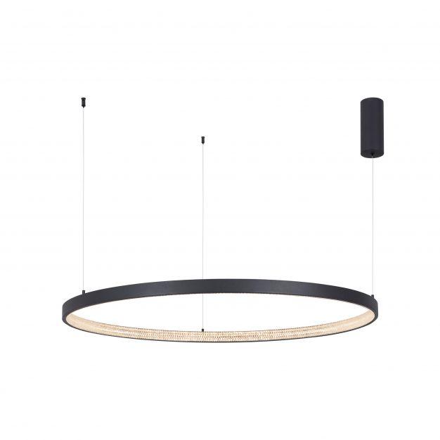 Nova Luce Preston - hanglamp - Ø 110 x 120 cm - 60W dimbare LED incl. - zand zwart