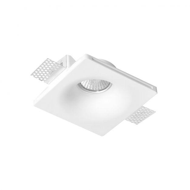 Nova Luce Tobia - inbouwspot - 120 x 120 mm, 125 x 125 mm inbouwmaat - wit gips