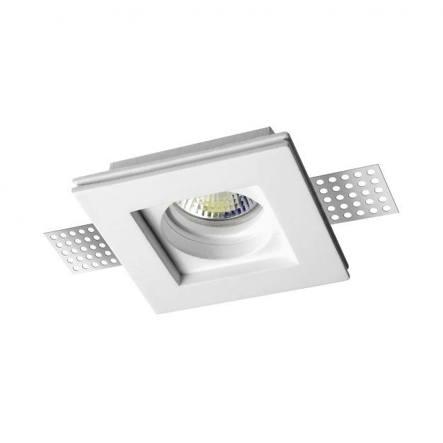 Nova Luce Tobia - inbouwspot - 100 x 100 mm, 105 x 105 mm inbouwmaat - wit gips