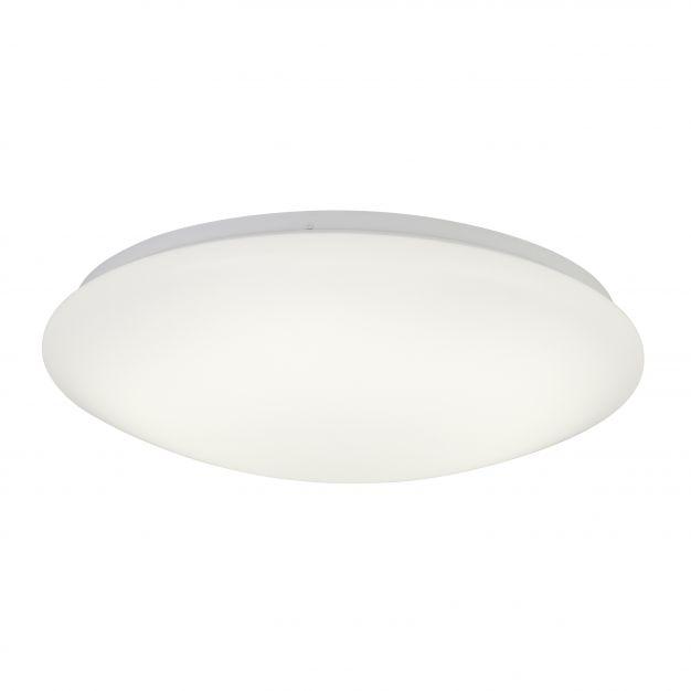 Brilliant Fakir - wand / plafondverlichting - Ø 50 x 12 cm - 30W LED incl. - IP44 - wit