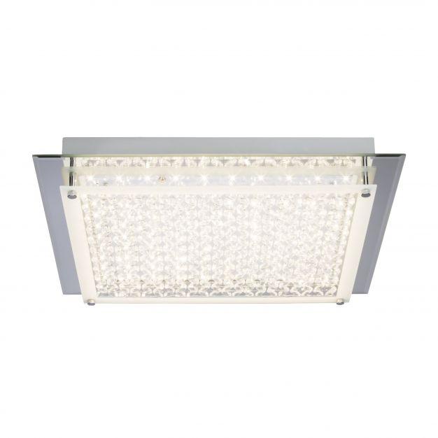 Brilliant Larina - wand / plafondverlichting - 42 x 42 x 7 cm - 20W LED incl. - chroom