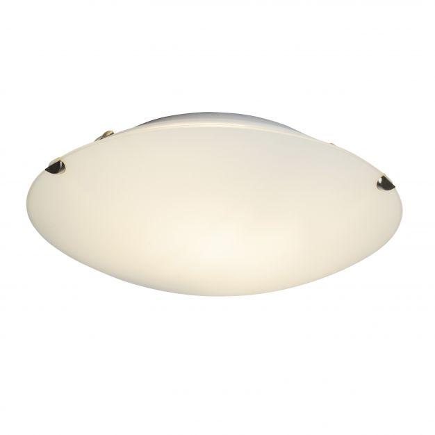 Brilliant Melania - wand / plafondverlichting - Ø 25 x 7 cm - 9W LED incl. - mat glas