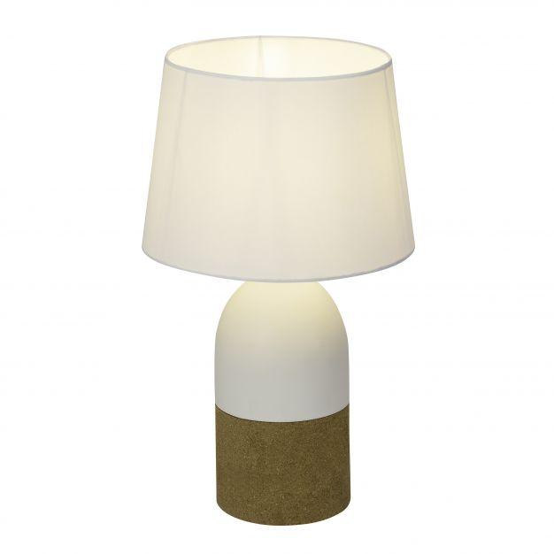 Brilliant Margaux - tafellamp - 44 cm - wit