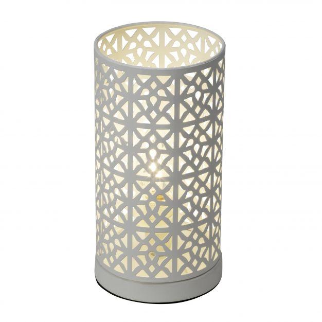 Brilliant Nour - tafellamp - 23 cm - wit