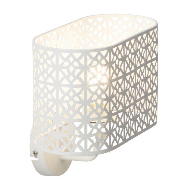 Brilliant Nour - wandverlichting - 26 x 25 x 16 cm - wit