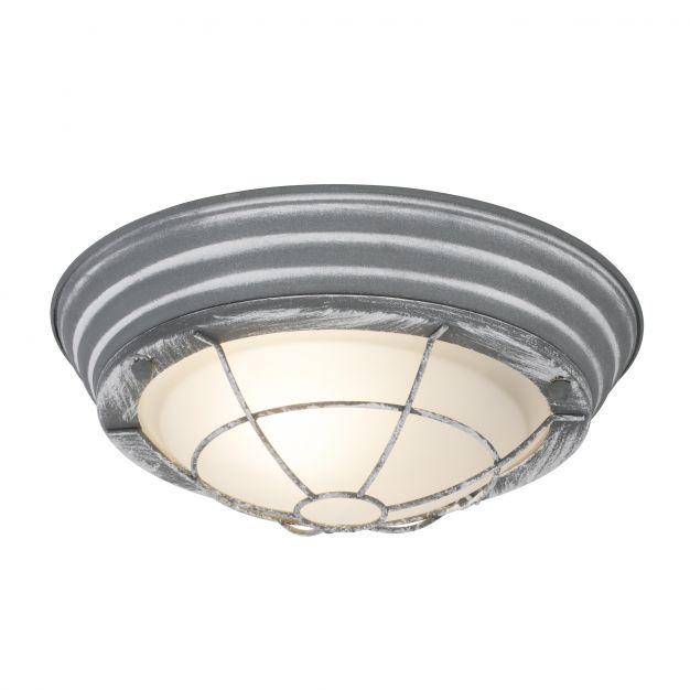 Brilliant Typhoon - wand / plafondverlichting - Ø 29 x 10 cm - betongrijs