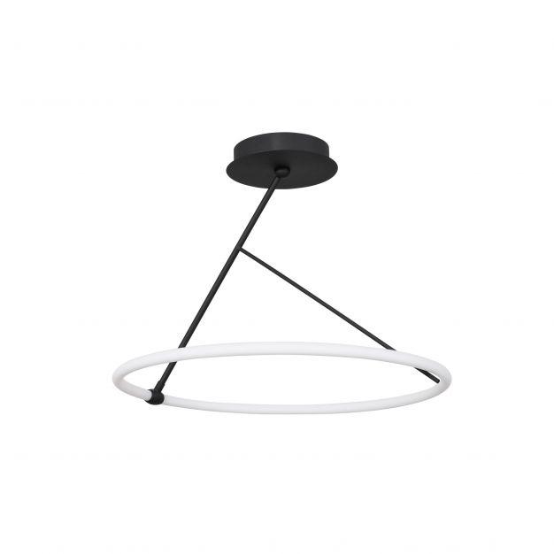 Nova Luce Janus - hanglamp - Ø 59,5 x 45 cm - 30W dimbare LED incl. - zand zwart