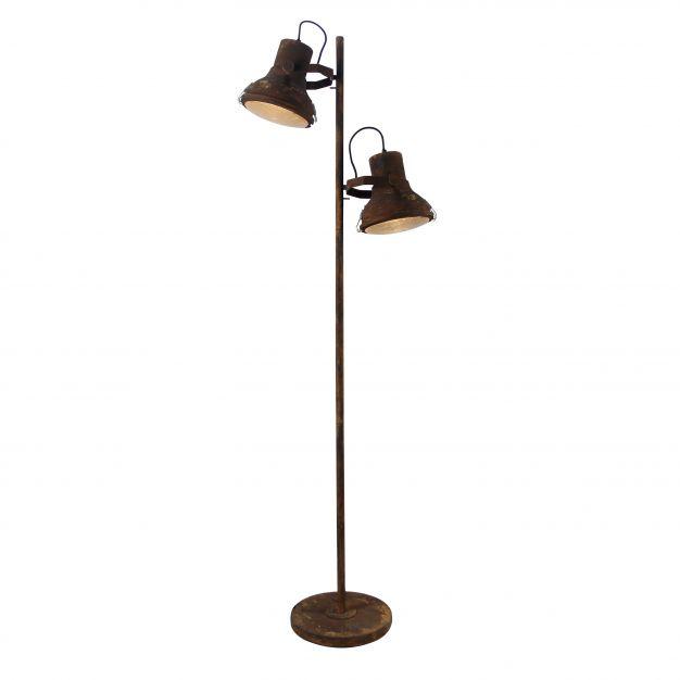 Brilliant Frodo - staanlamp - 160 cm - roest / zwart