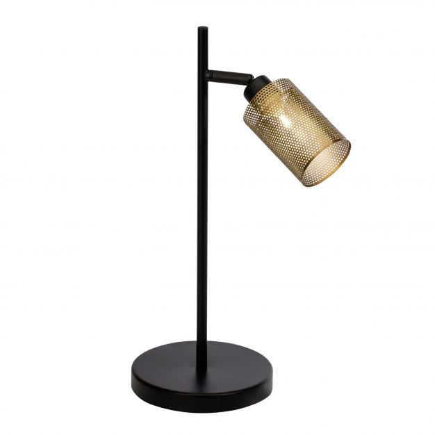 Brilliant Mesh - tafellamp - 40 cm - zwart / antiek messing