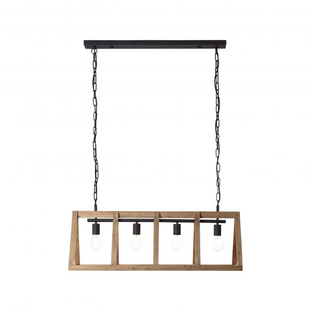 Brilliant Matrix Wood - hanglamp - 95 x 35 x 126 cm - antiek hout