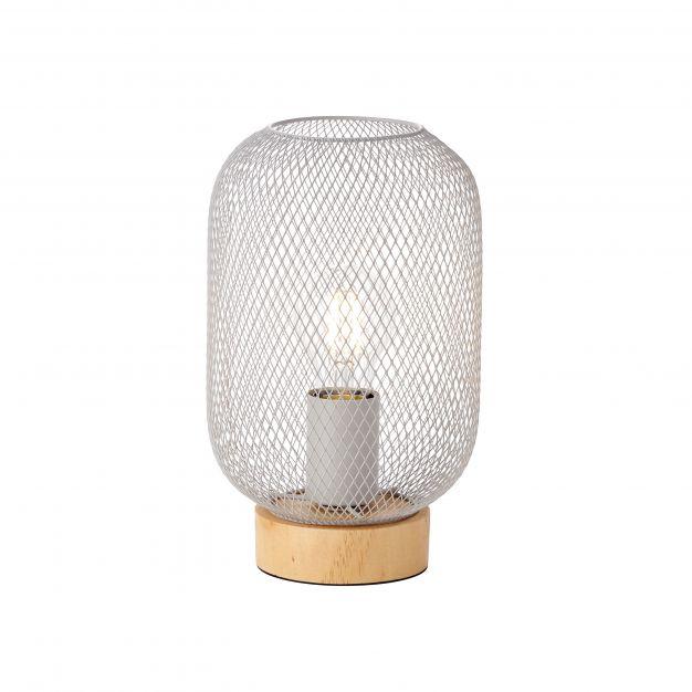 Brilliant Giada - tafellamp - Ø 16 x 26,5 cm - lichtgrijs