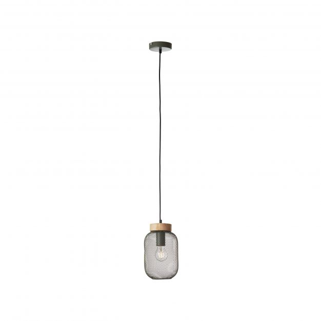 Brilliant Giada - hanglamp - Ø 16 x 112 cm - olijfgroen