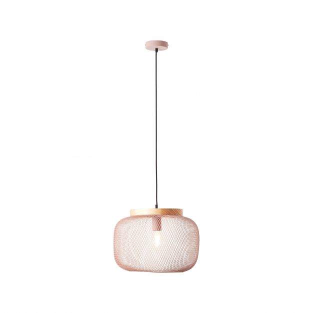Brilliant Giada - hanglamp - Ø 39 x 113 cm - lichtroze