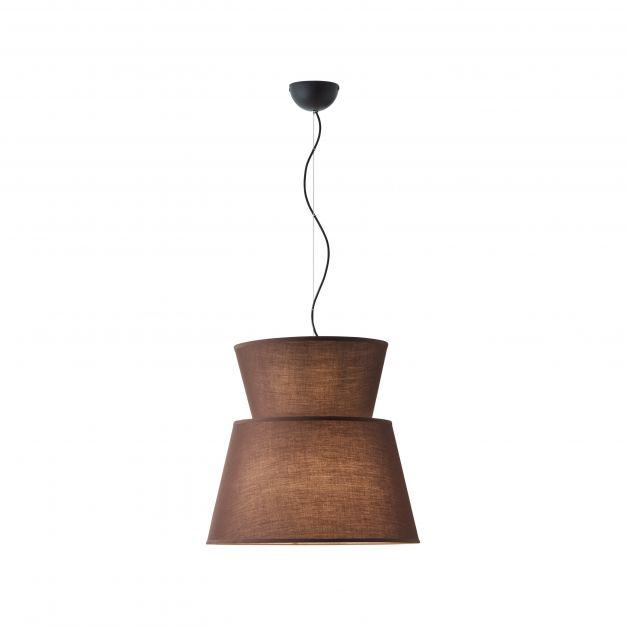 Brilliant Amoa - hanglamp - Ø 50 x 120 cm - bruin