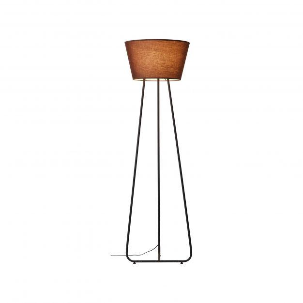 Brilliant Amoa - staanlamp - Ø 50 x 167 cm - bruin