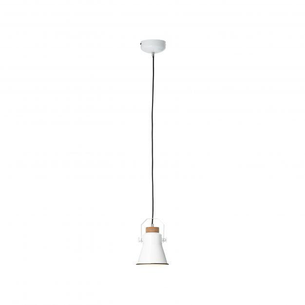Brilliant Harrow - hanglamp - Ø 15,5 x 118 cm - wit