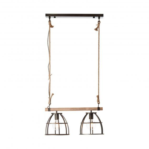Brilliant Matrix Wood - hanglamp - 58 x 25 x 122,5 cm - zwart
