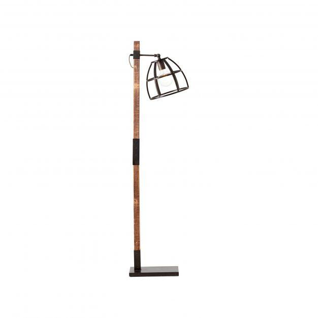 Brilliant Matrix Wood - staanlamp - 45 x 25 x 141 cm - bruin en zwart