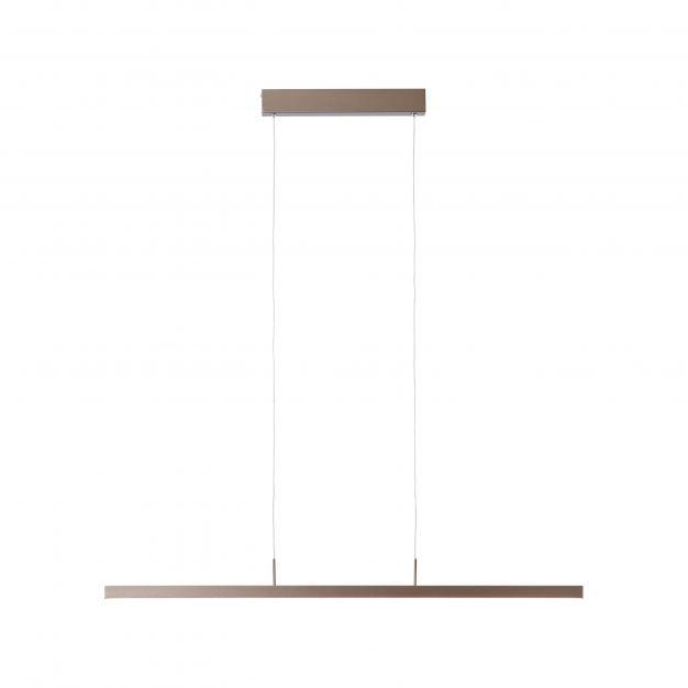 Brilliant Skinn - hanglamp - 102,5 x 40 x 130 cm - 3 stappen dimmer - 27W LED incl. - bruin
