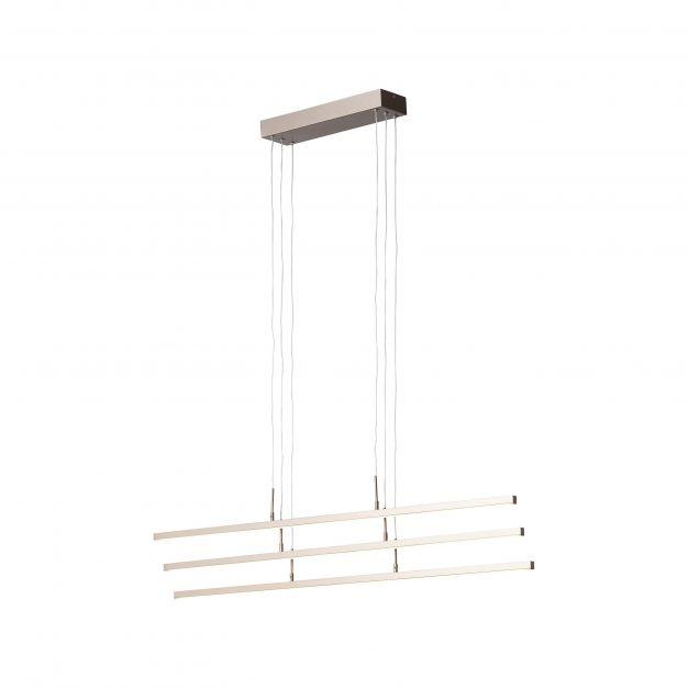 Brilliant Skinn - hanglamp - 102,5 x 10 x 115 cm - 3 stappen dimmer - 3 x 16,3W LED incl. - bruin