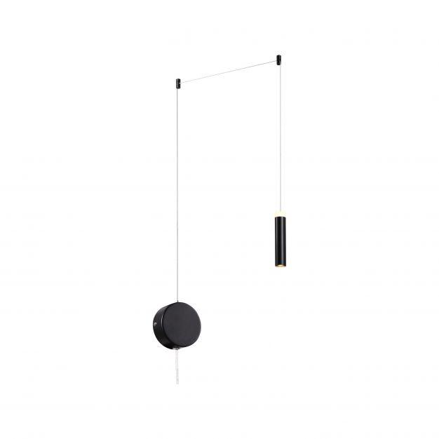 Brilliant Limas - hanglamp - 200 x 200 x 200 cm - 3 stappen dimmer - 10W LED incl. - zwart