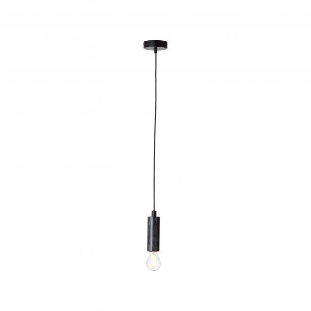 Brilliant Marble - hanglamp - Ø 11 x 139 cm - zwart