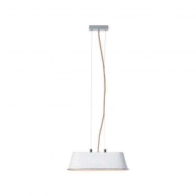 Brilliant Sudo - hanglamp - 45 x 19,5 x 123 cm - wit hoogglans