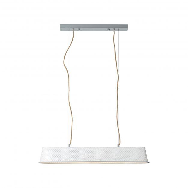 Brilliant Sudo - hanglamp - 90 x 19 x 130 cm - wit hoogglans