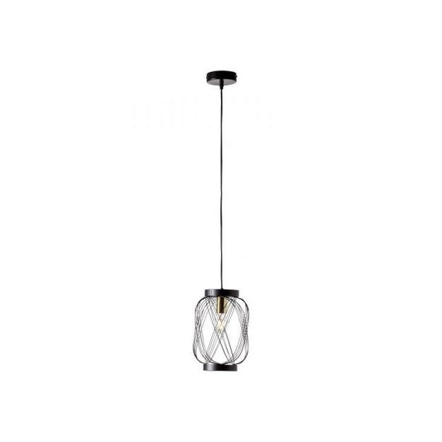 Brilliant Brogan - hanglamp - Ø 20,5 x 189 cm - zwart