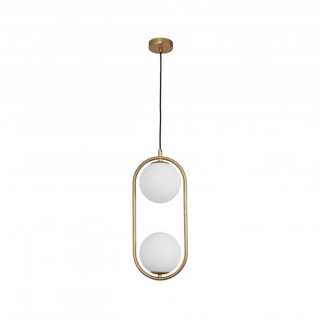 Nova Luce Obitar - hanglamp - 20 x 15 x 120 cm - messing goud