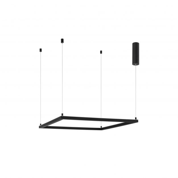 Nova Luce Eterna - hanglamp - 75 x 75 x 120 cm - 40W dimbare LED incl. - zand zwart