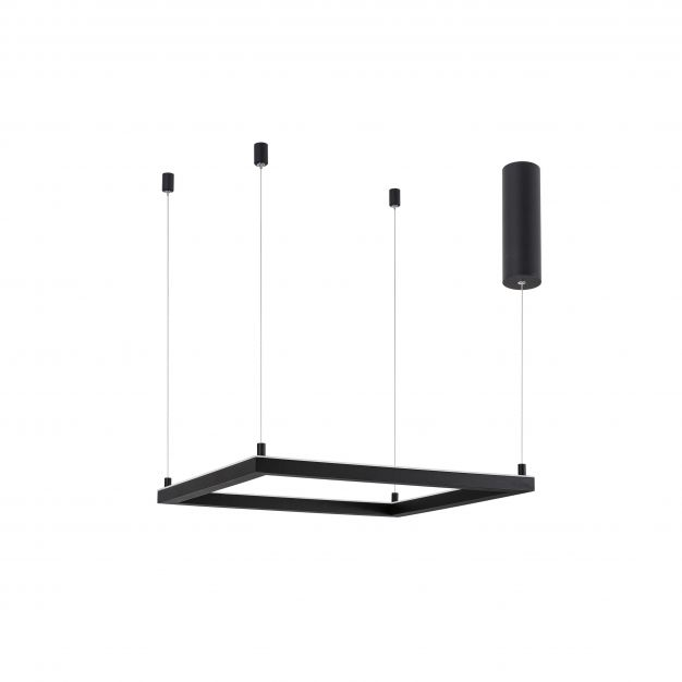 Nova Luce Eterna - hanglamp - 50 x 50 x 120 cm - 30W dimbare LED incl. - zand zwart