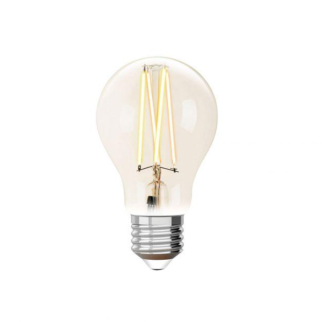 iDual LED-lamp zonder afstandsbediening - Ø 6 x 10,8 cm - E27 - 9W dimbaar - 2200K tot 6500K - transparant
