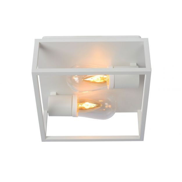 Lucide Carlyn - plafondverlichting - 25 x 25 x 12,6 cm - IP54 - wit