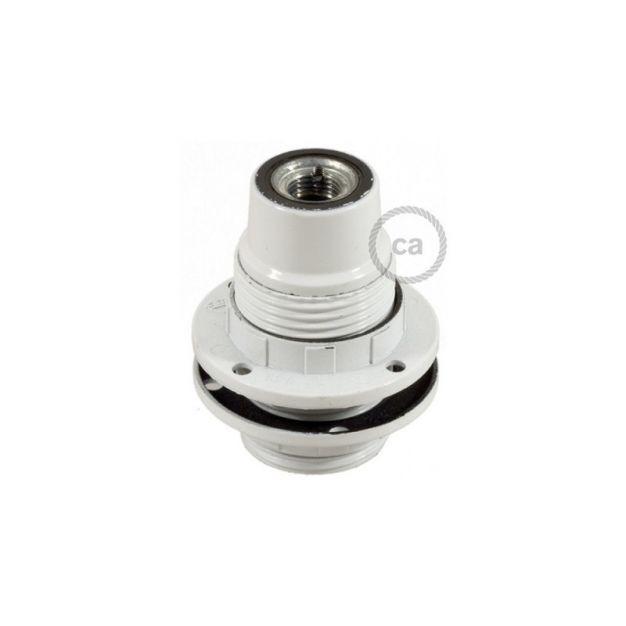 Creative Cables - Bakeliet E14 Fitting voor lampenkap met 2 schroefringen - Ø 2,8 x 5,5 cm - wit