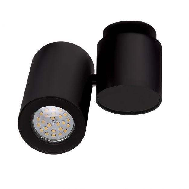 Maxlight Barro - opbouwspot 1L - 15 cm - zwart