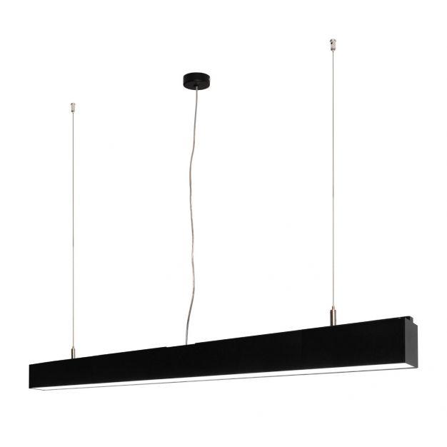Lichtkoning Linear - hanglamp - 113,5 x 5 x 200 cm - 36W LED incl. - zwart - warm witte lichtkleur