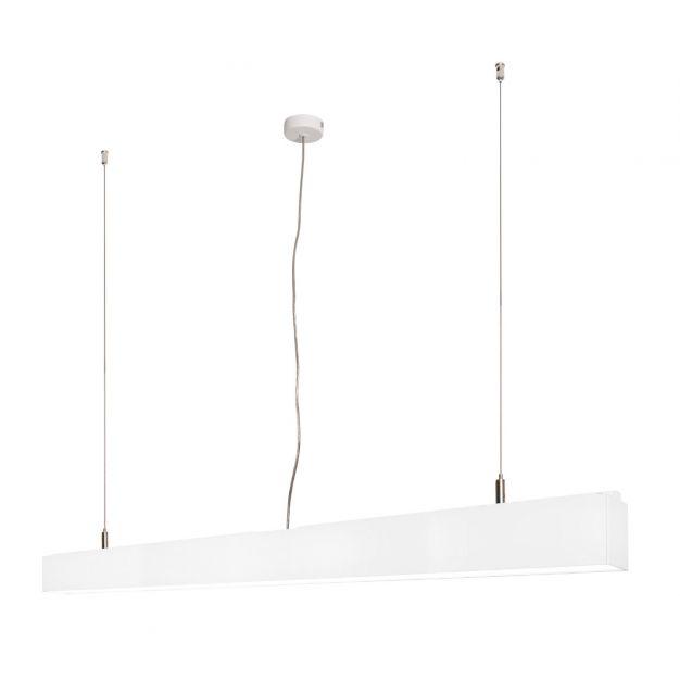Lichtkoning Linear - hanglamp - 113,5 x 5 x 200 cm - 36W LED incl. - wit - warm witte lichtkleur
