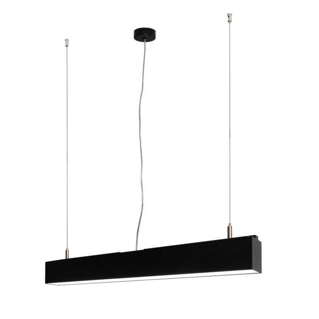 Lichtkoning Linear - hanglamp - 57 x 5 x 200 cm - 18W LED incl. dimbaar - zwart - warm witte lichtkleur