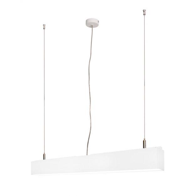 Lichtkoning Linear - hanglamp - 57 x 5 x 200 cm - 18W LED incl. dimbaar - wit - warm witte lichtkleur