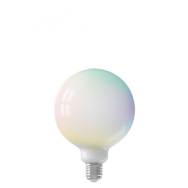 Calex Smart LED lamp - Ø 12,5 x 17,2 cm - E27 - 7,5W - dimfunctie en instelbare lichtkleur via app - 1800 tot 3000K - RGB + W