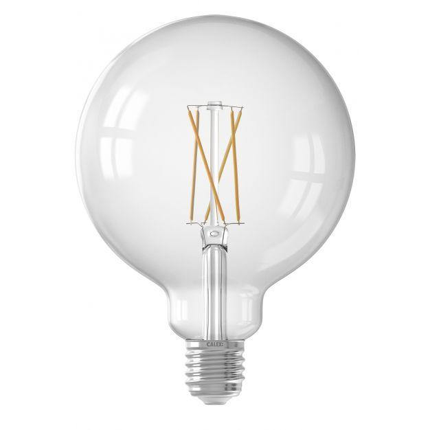 Calex Smart LED lamp - Ø 12,5 x 17,8 cm - E27 - 7,5W - dimfunctie via app - 1800 tot 3000K - white ambiance