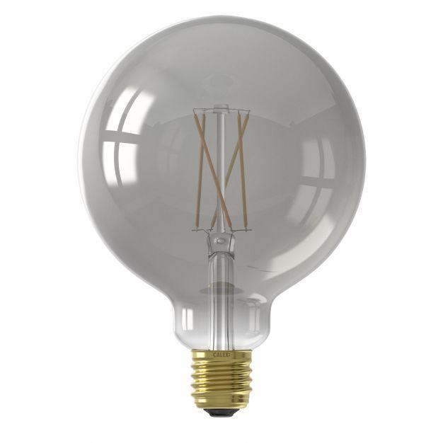 Calex Smart LED lamp - Ø 12,5 x 17,8 cm - E27 - 7,5W - dimfunctie via app - 1800 tot 3000K - white ambiance - gerookt