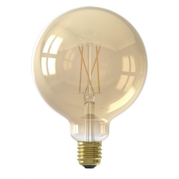 Calex Smart LED lamp - Ø 12,5 x 17,8 cm - E27 - 7W - dimfunctie via app - 1800 tot 3000K - white ambiance - amber