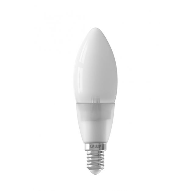 Calex Smart LED lamp - Ø 3,5 x 11,2 cm - E14 - 4,5W - dimfunctie via app - 2200 tot 4000K - white ambiance