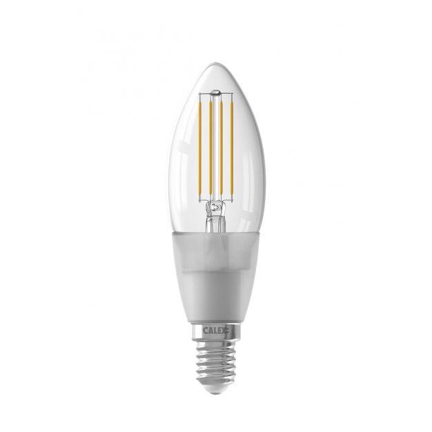 Calex Smart LED lamp - Ø 3,5 x 11,2 cm - E14 - 4,5W - dimfunctie via app - 1800 tot 3000K - white ambiance