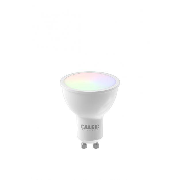 Calex Smart LED spot - Ø 5 x 5,8 cm - GU10 - 5W - dimfunctie en instelbare lichtkleur via app - RGB+W