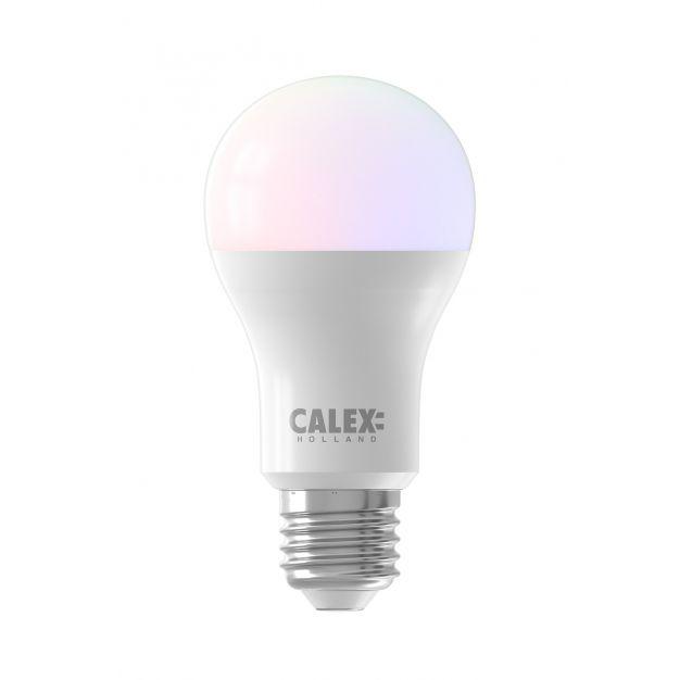 Calex Smart LED lamp - Ø 6,2 x 10,9 cm - E27 - 8,5W - dimfunctie en instelbare lichtkleur via app - RGB+W