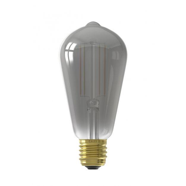 Calex Smart LED lamp - Ø 6,4 x 14 cm - E27 - 7W - dimfunctie via app - 1800 tot 3000K - white ambiance - gerookt