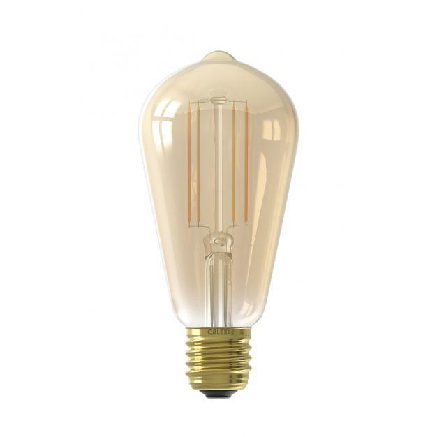 Calex Smart LED lamp - Ø 6,4 x 14 cm - E27 - 7W - dimfunctie via app - 1800 tot 3000K - white ambiance - amber